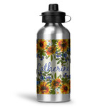 Sunflowers Water Bottle - Aluminum - 20 oz (Personalized)