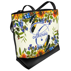 Sunflowers Beach Tote Bag (Personalized)