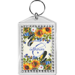 Sunflowers Bling Keychain (Personalized)