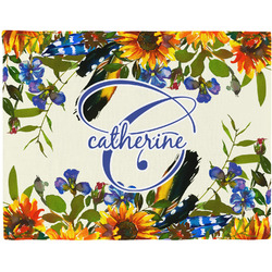 Sunflowers Placemat (Fabric) (Personalized)