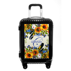 Sunflowers Carry On Hard Shell Suitcase (Personalized)