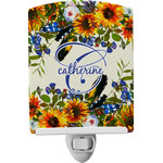 Sunflowers Ceramic Night Light (Personalized)