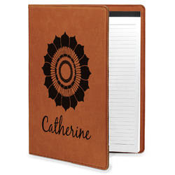 Sunflowers Leatherette Portfolio with Notepad (Personalized)