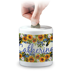 Sunflowers Coin Bank (Personalized)