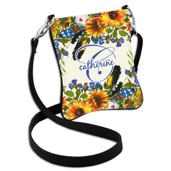 Sunflowers Cross Body Bag - 2 Sizes (Personalized)