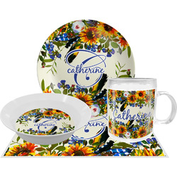 Sunflowers Dinner Set - 4 Pc (Personalized)