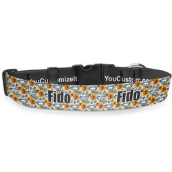 Sunflowers Deluxe Dog Collar (Personalized)