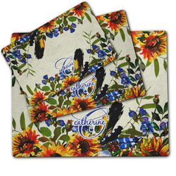 Sunflowers Dog Food Mat w/ Name and Initial