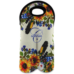 Sunflowers Wine Tote Bag (2 Bottles) (Personalized)