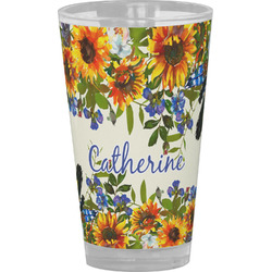Sunflowers Drinking / Pint Glass (Personalized)