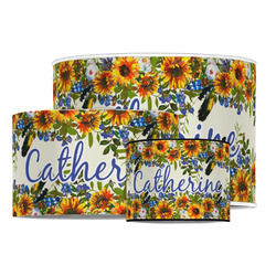 Sunflowers Drum Lamp Shade (Personalized)