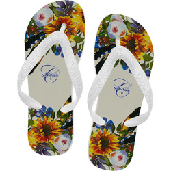Sunflowers Flip Flops (Personalized)