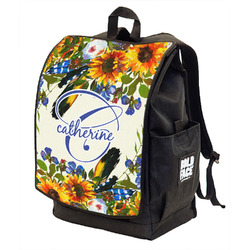 Sunflowers Backpack w/ Front Flap (Personalized)