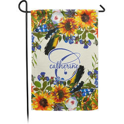 Sunflowers Single Sided Garden Flag (Personalized)