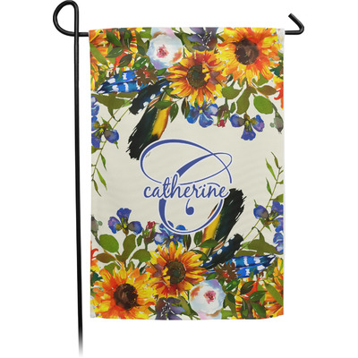 Sunflowers Garden Flag - Single or Double Sided (Personalized)