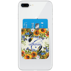 Sunflowers Genuine Leather Adhesive Phone Wallet (Personalized)