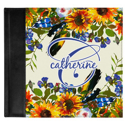 Sunflowers Genuine Leather Baby Memory Book (Personalized)