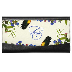 Sunflowers Genuine Leather Ladies Wallet (Personalized)