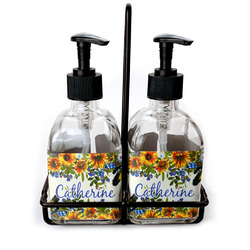 Sunflowers Glass Soap & Lotion Bottles (Personalized)