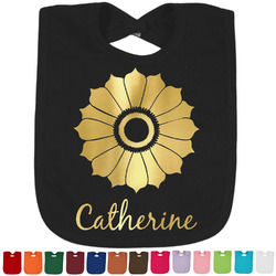 Sunflowers Foil Baby Bibs (Personalized)