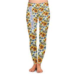 Sunflowers Ladies Leggings (Personalized)