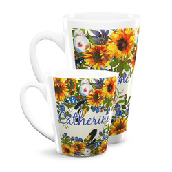 Sunflowers Latte Mug (Personalized)