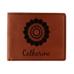Sunflowers Leatherette Bifold Wallet (Personalized)