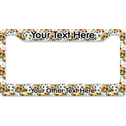 Sunflowers License Plate Frame - Style B (Personalized)