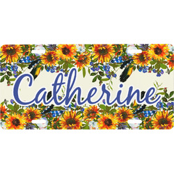 Sunflowers Front License Plate (Personalized)