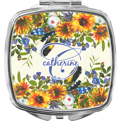 Sunflowers Compact Makeup Mirror (Personalized)