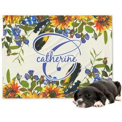 Sunflowers Minky Dog Blanket (Personalized)