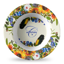 Sunflowers Plastic Bowl - Microwave Safe - Composite Polymer (Personalized)