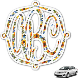 Sunflowers Monogram Car Decal (Personalized)