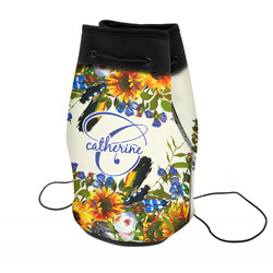 Sunflowers Neoprene Drawstring Backpack (Personalized)