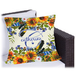 Sunflowers Outdoor Pillow (Personalized)