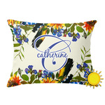 Sunflowers Outdoor Throw Pillow (Rectangular) (Personalized)