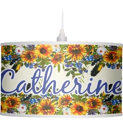 Sunflowers Drum Pendant Lamp (Personalized)