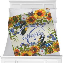 Sunflowers Minky Blanket (Personalized)