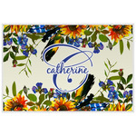 Sunflowers Laminated Placemat w/ Name and Initial