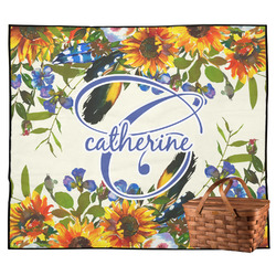 Sunflowers Outdoor Picnic Blanket (Personalized)