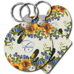 Sunflowers Plastic Keychains (Personalized)