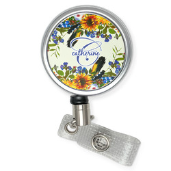 Sunflowers Retractable Badge Reel (Personalized)