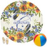 Sunflowers Round Beach Towel (Personalized)