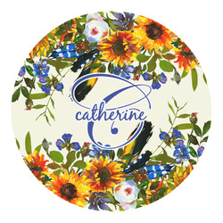 Sunflowers Round Decal (Personalized)