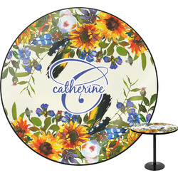 Sunflowers Round Table (Personalized)