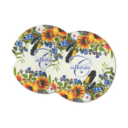 Sunflowers Sandstone Car Coasters (Personalized)