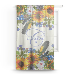 Sunflowers Sheer Curtains (Personalized)