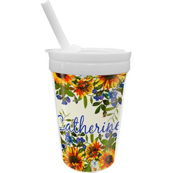 Sunflowers Sippy Cup with Straw (Personalized)