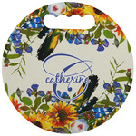 Sunflowers Stadium Cushion (Round) (Personalized)