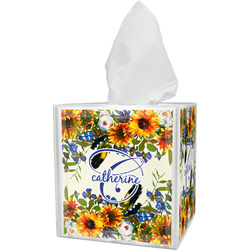 Sunflowers Tissue Box Cover (Personalized)